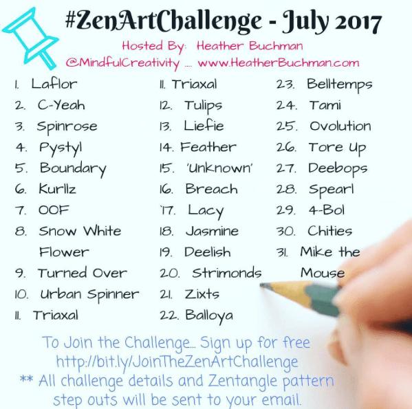 Zen Art Challenge with Mindful Creativity - Days 15-22