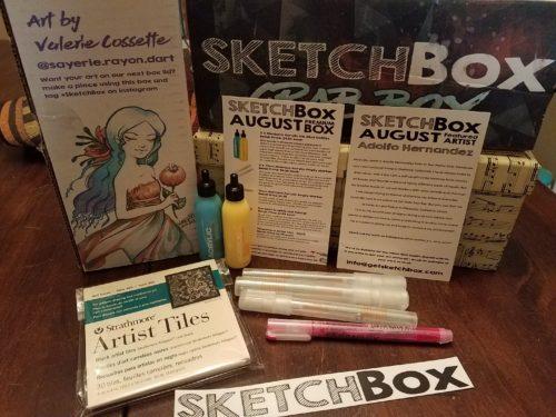 August 2017 Premium Sketchbox