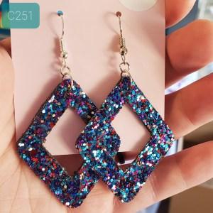 chunky glitter blue