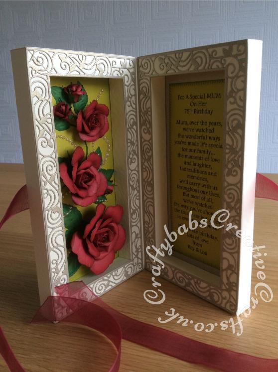 Rose Shadow Box6 Craftybabs Creative Crafts