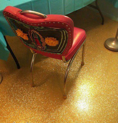 DIY Glittered Floor