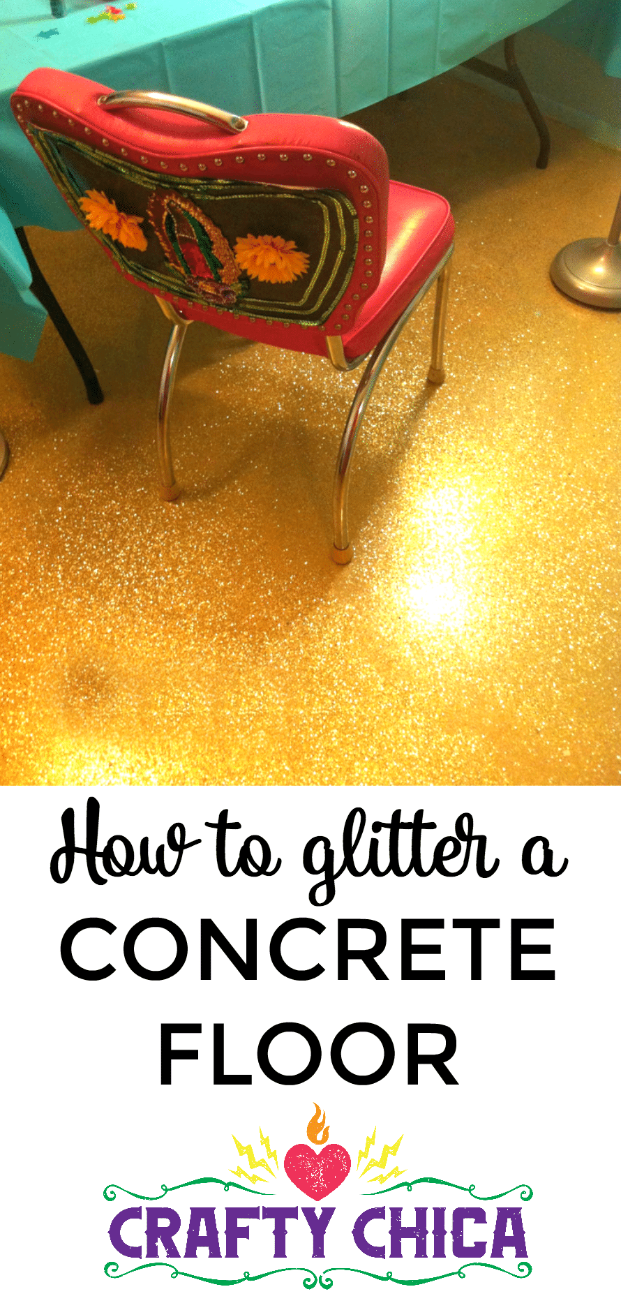 Diy Glittered Floor The Crafty Chica