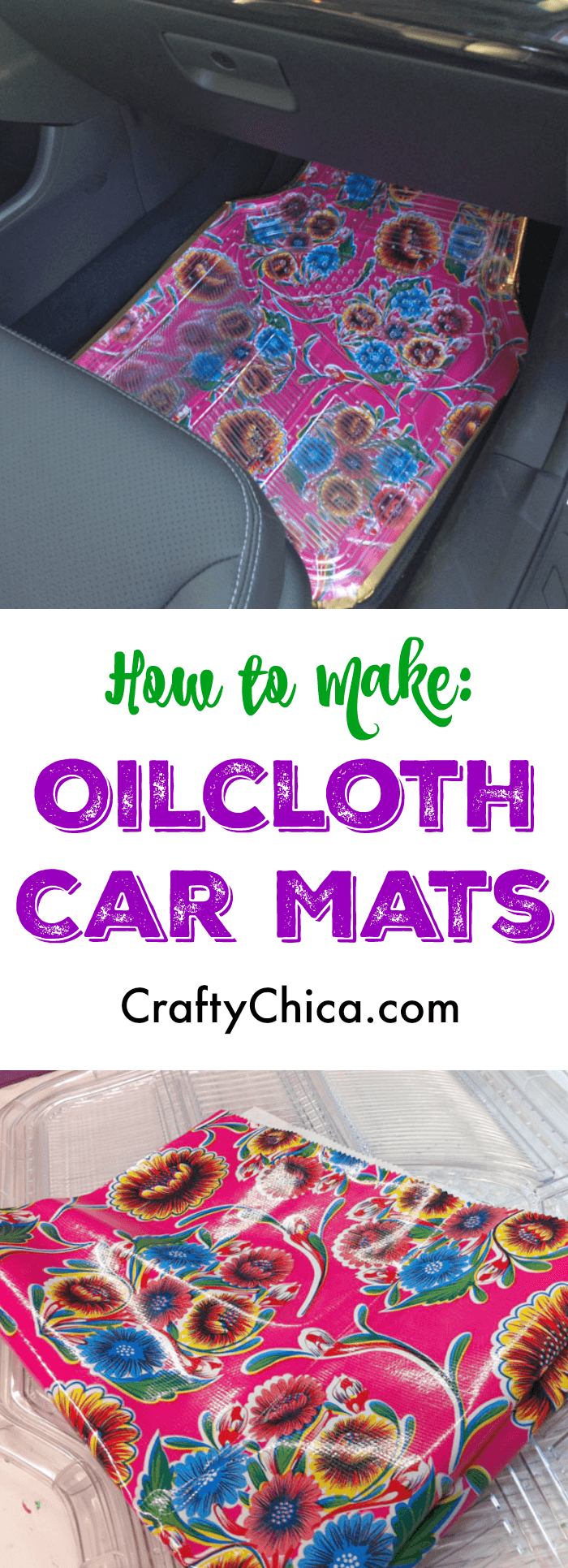 Make oilcloth car mats by Crafty Chica