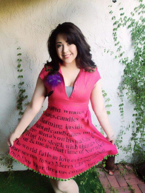 letter stamped dress