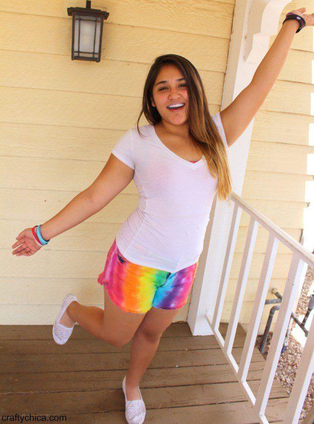 How to make rainbow shorts!