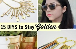 15 DIYs to stay golden by CraftyChica.com
