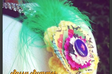 Sassy Summer Headband by CraftyChica.com.