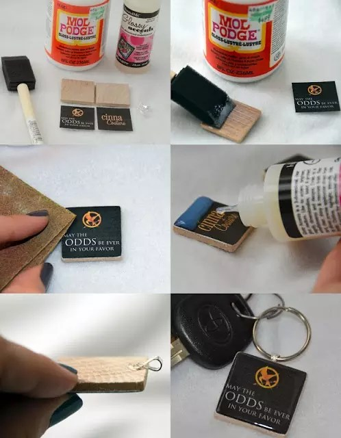 hunger games key chains