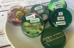 Embed trinkets and charms into soaps to give as fun gifts! By CraftyChica.com.
