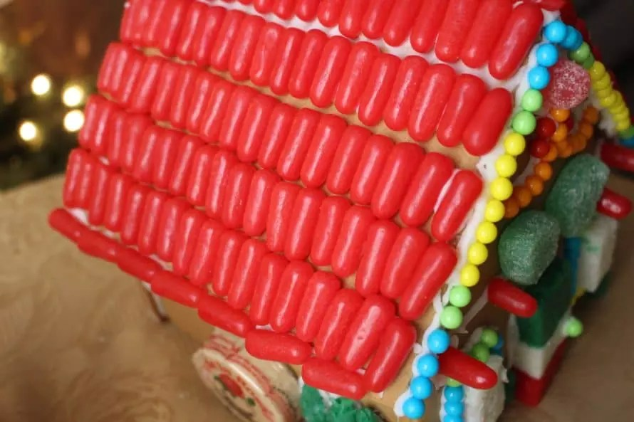 Mexican candy gingerbread house by CraftyChica.com