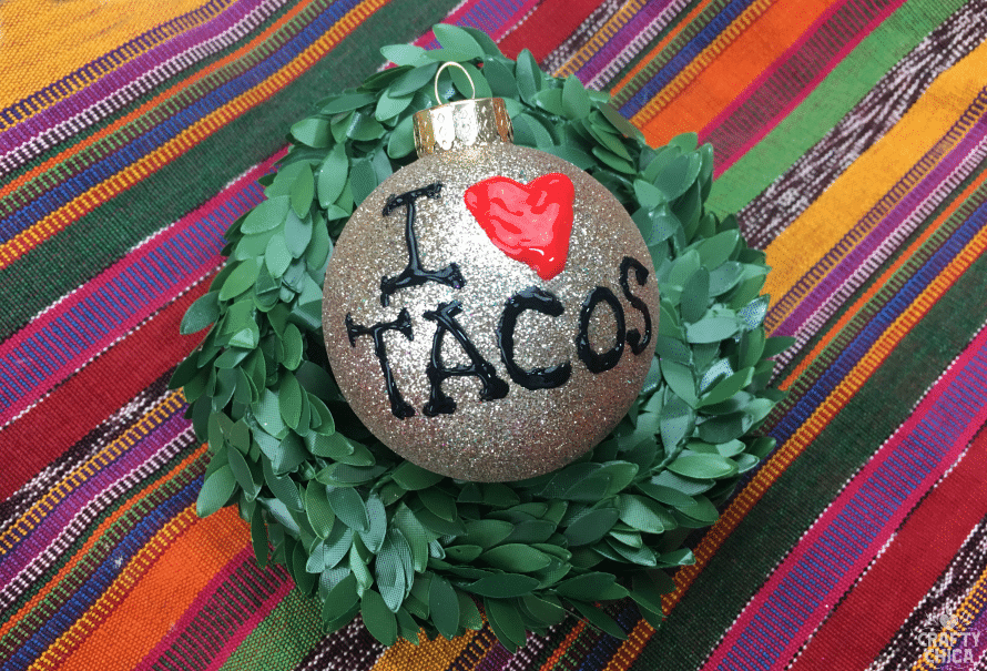 I Heart Taco Ornaments by Crafty Chica