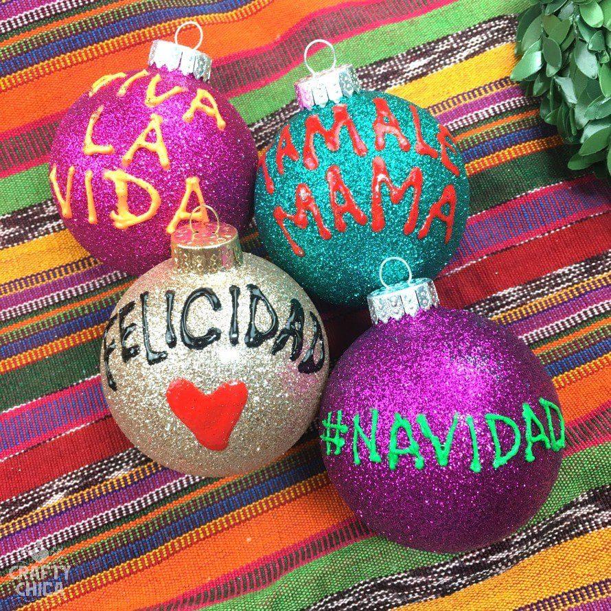 Mexican meme ornaments