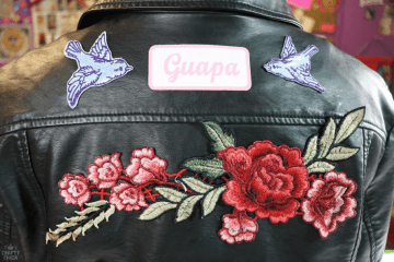 diy patch jacket by Crafty Chica.