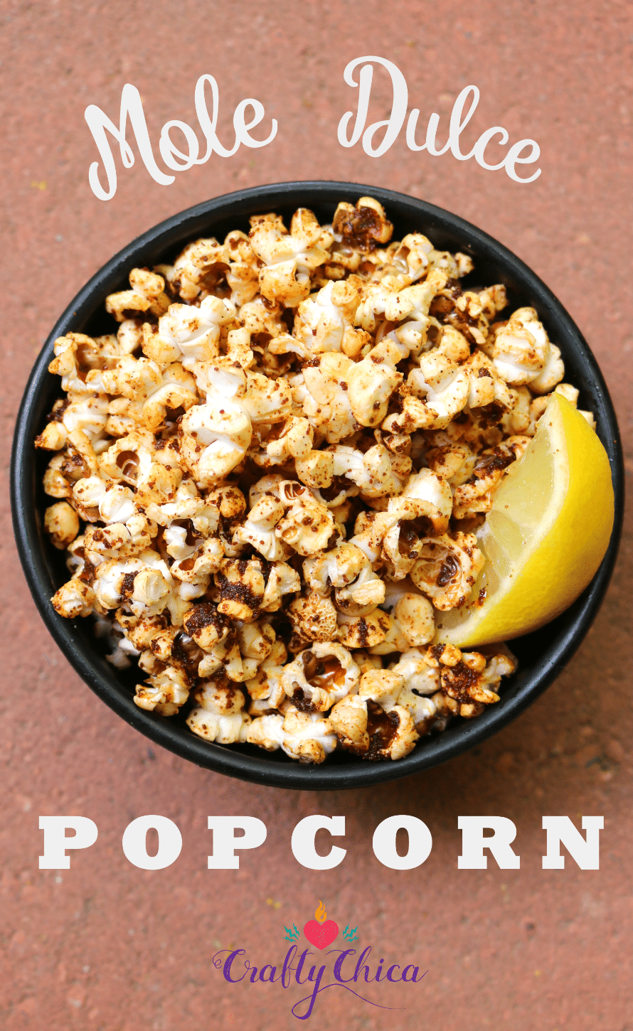 Mole Popcorn Recipe by CraftyChica.com