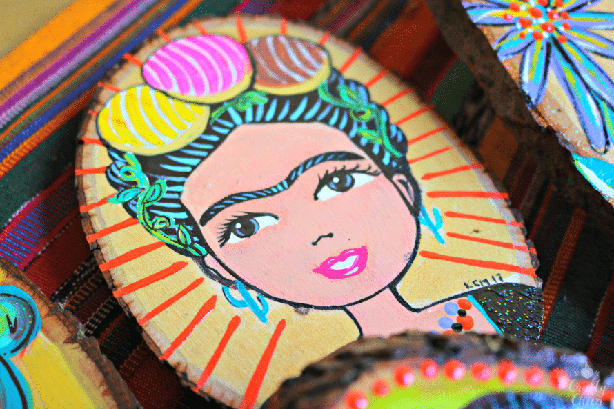 Frida con conchas, by Crafty Chica.