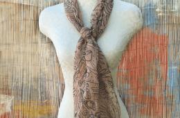 Avovado dyed scarf, craftychica.com