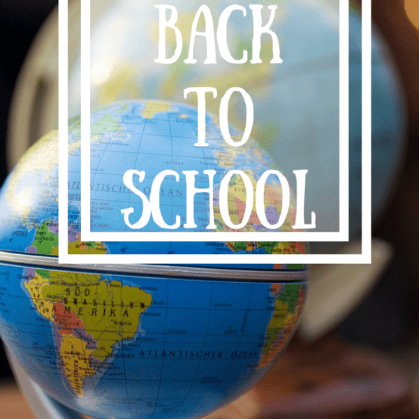 Back To School:  Our Plans for the New School Year