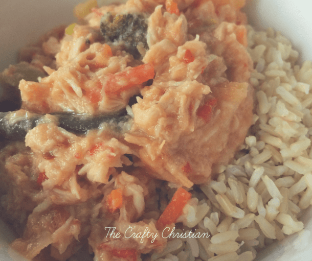 I'm always looking for good clean eating, crockpot recipes. And since we buy so much chicken, I just had to give this one a try. The result? Delish!