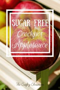 Sugar Free Crockpot Applesauce {Recipe}