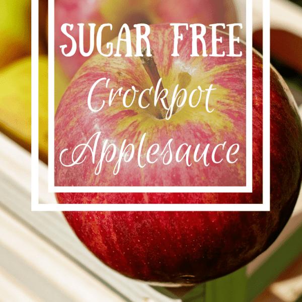 Sugar Free Crockpot Applesauce {Recipe}