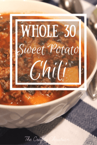 Crockpot Sweet Potato Whole30 Chili {Recipe}
