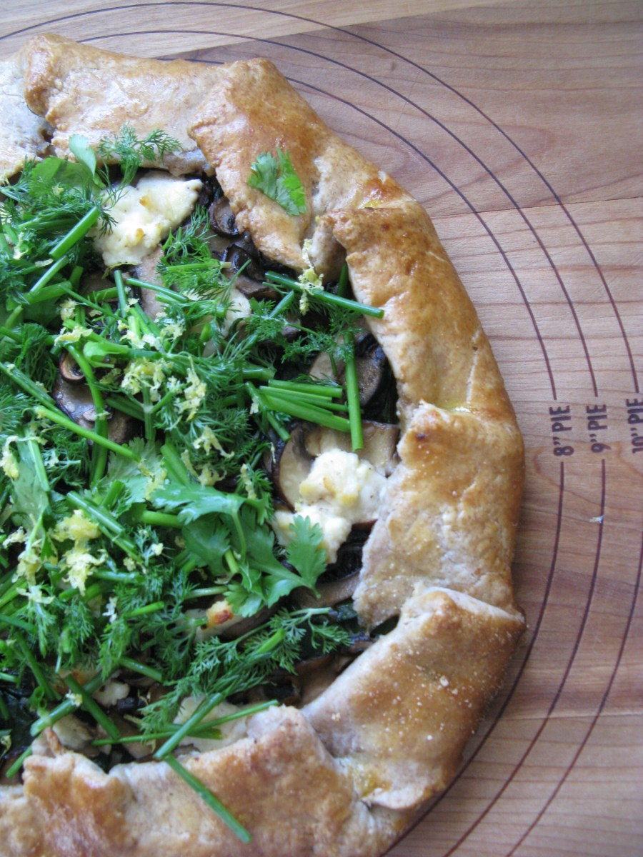 A Very Moody Spring Swiss Chard and Mushroom Galette