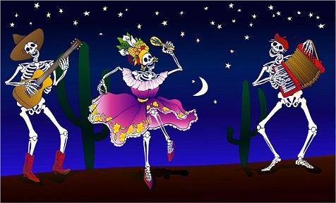 El Dia de los Muertos. Image credit from Sedona Eye.