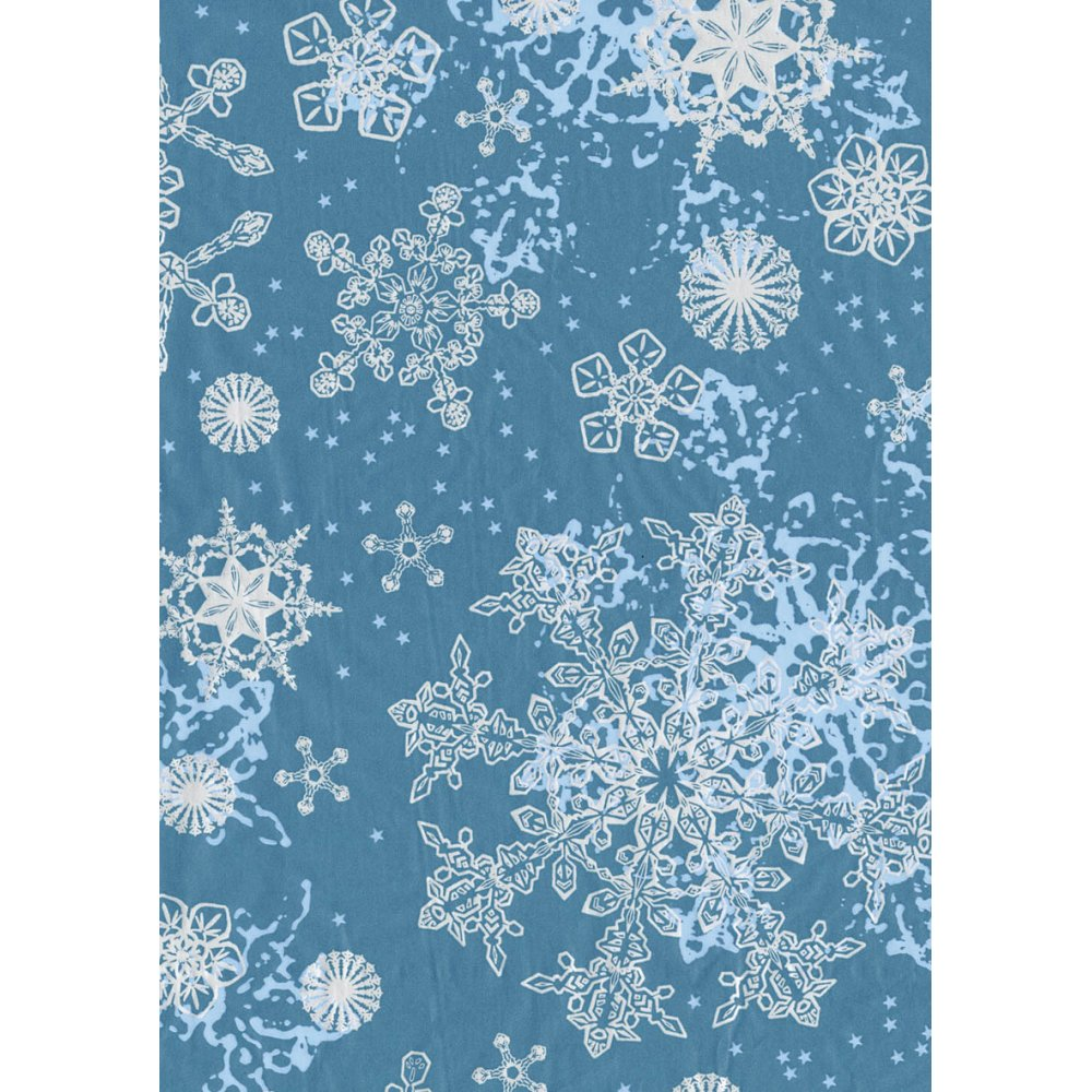 Decopatch Paper 521 Half Sheet BlueWhite Snowflakes