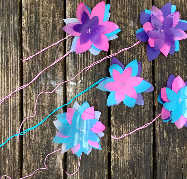 DIY Plastic Bottle Flower Crown Upcycle