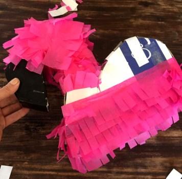 DIY Flamingo Piñata 9
