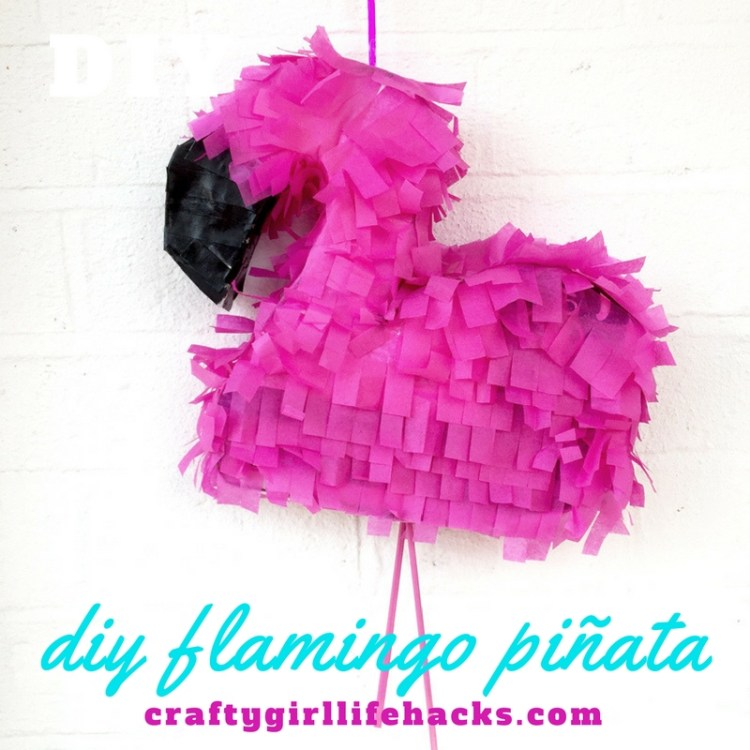 DIY Flamingo Piñata 2