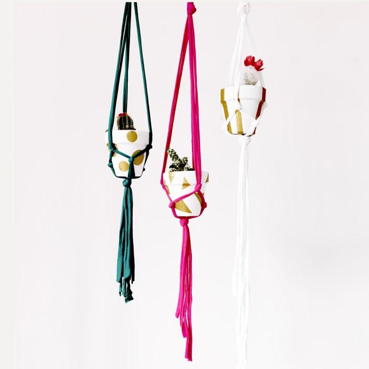 Upcycled Macrame Hangers