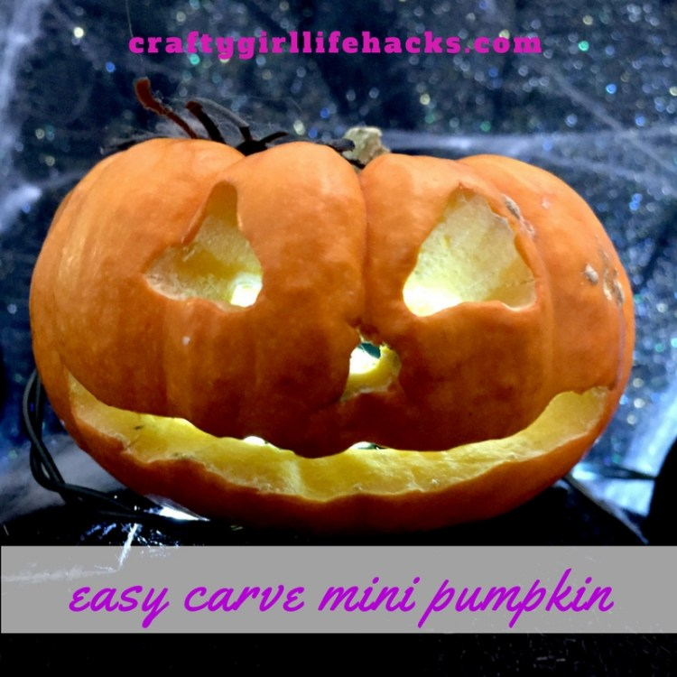 Easy Carve Mini Pumpkin with an Electric Drill