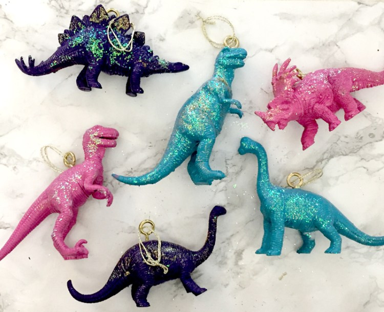 DIY Dinosaur Christmas Decorations