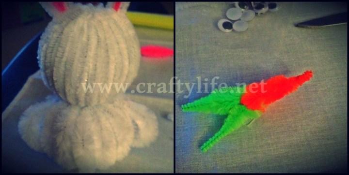 bunny and chick styrofoam my crafty life 4-2