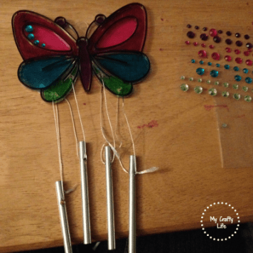 When I was finished my daughter add so cool bling to the butterfly wings.
