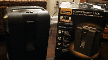 Protect yourself with the Fellowes 63Cb Shredder #MC @FellowesInc #sponsored