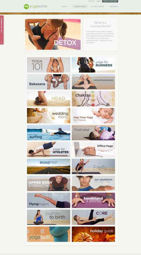 Journey Series   MyYogaWorks   Online Yoga Classes