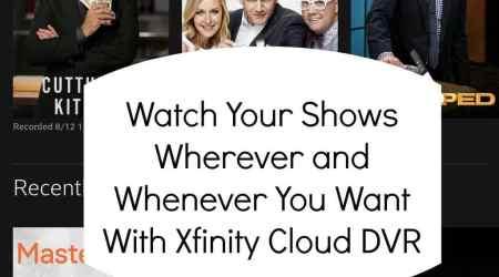 Tv on the go with Xfinity Cloud DVR @tysofast #Xfinity #sponsor