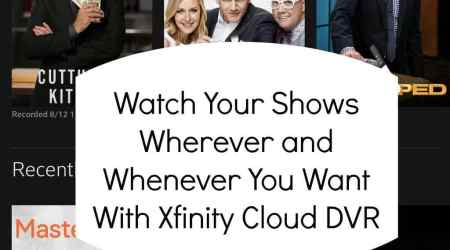 Tv on the go with Xfinity Cloud DVR @tysofast #Xfinity #sponsor
