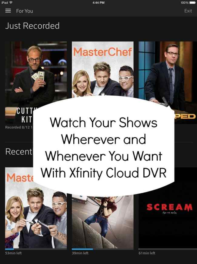 xfinity cloud dvr #xfinity