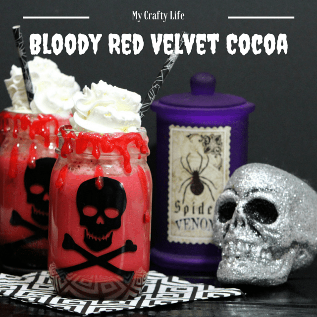 Bloody Red Velvet Cocoa -My Crafty Life Rich, creamy, bloody good cocoa.