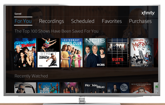 The X1 Platform™ by XFINITY® An Interactive TV Experience white