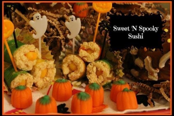 flipz halloween party snacks - sweet n spooky sushi