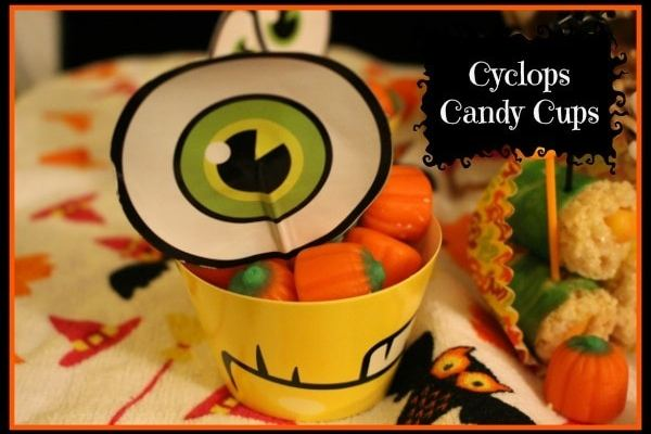 flipz party snacks - cyclops candy cups