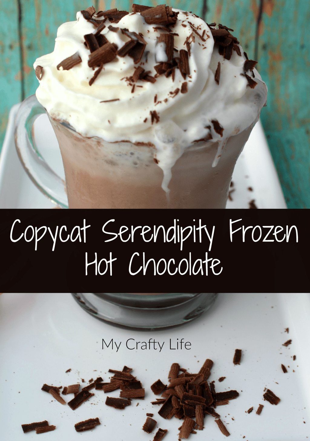 While this recipe is not exactly the famous Serendipity Frozen Hot Chocolate, it's pretty dang close. Enjoy!