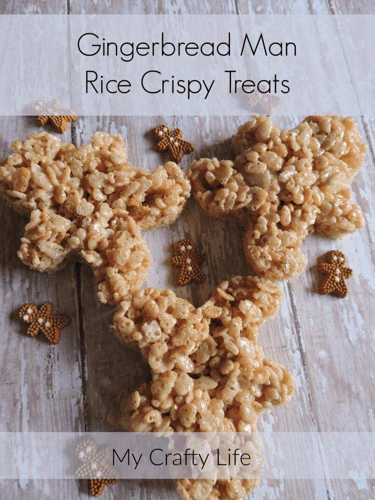 Gingerbread Man Rice Crispy Treats