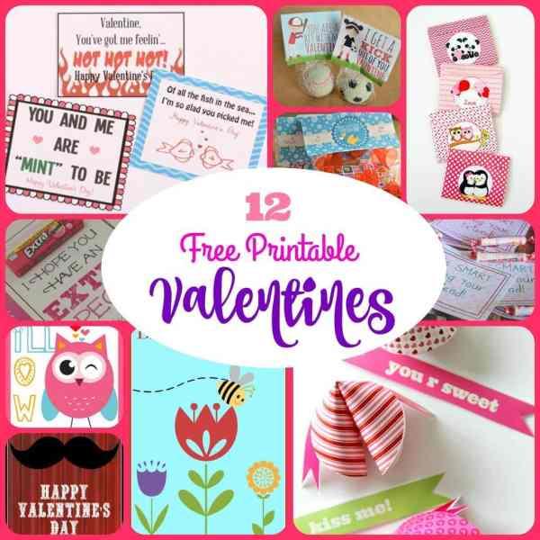 12 Free Frintable Valentines