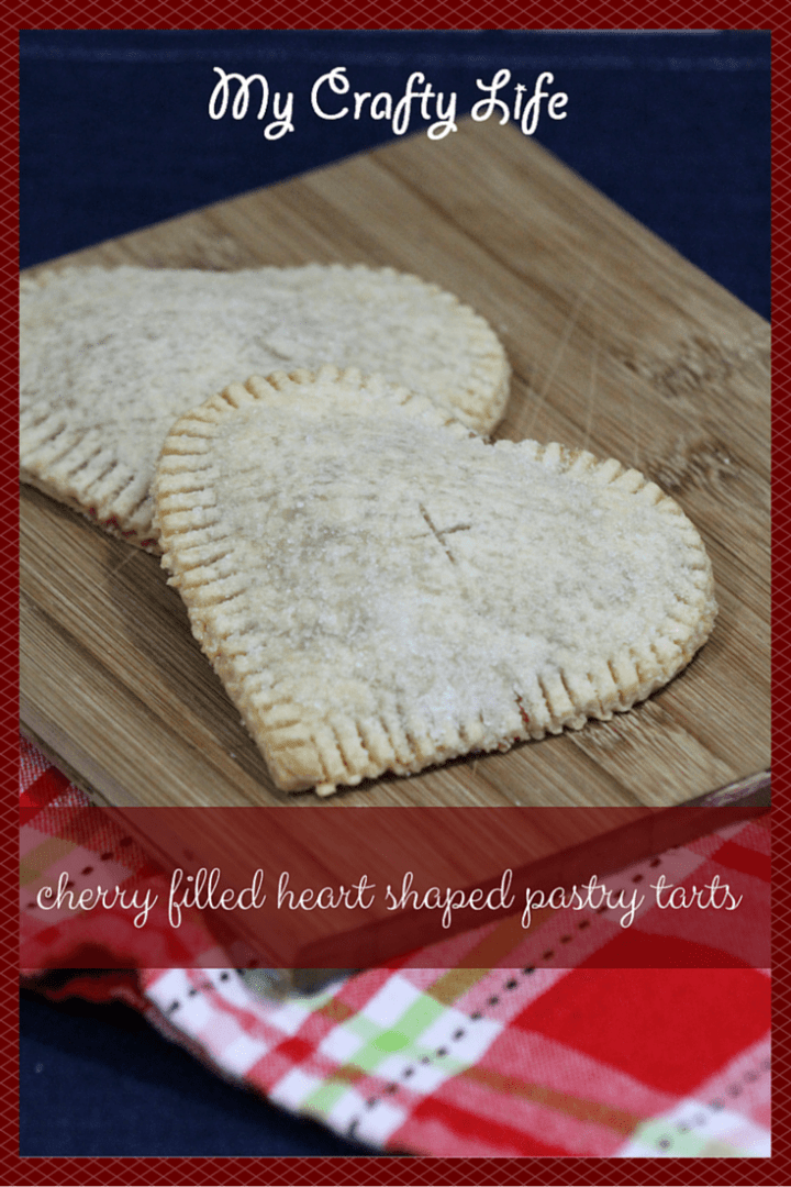 Cherry Filled Heart Shaped Pastry Tarts - My Crafty Life