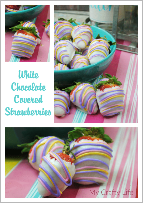 This awesome White Chocolate Covered Strawberries Recipe can be used for Easter, spring or all year round!!